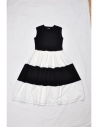 Aya one-piece(black x white) F